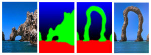 An example of an image analogy showing how new shapes can be created.
